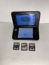 Nintendo 3DS XL Red  Black w/ 3 games -No Charger