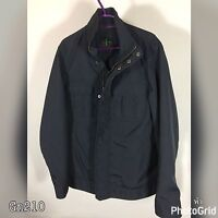 Jasper Conran Mens Waterproof Navy Blue Jacket Size Small S Zip Up Casual