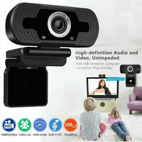 Full 1080P HD Webcam USB Video Camera with Mic for PC Laptop Auto Focus 002#