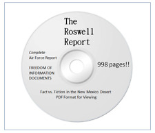 Ufo The Roswell Report, Fact Vs Fiction Research Book on Cd, Roswell Area 51