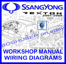 ssangyong rexton i ii 2001-2009 workshop service repair manual & wiring  diagrams