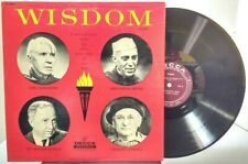 Wisdom Volume 1 - Conversations with Elder Wise Men of Our Day - DECCA 9083