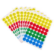 10 Sheets Smile Faces School Reward Merit Stickers Scrapbook DIY for Children F