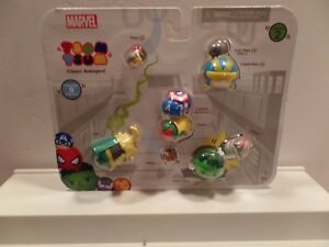 New SEALED Marvel Tsum Tsum Classic Avengers Series 2 9-pack Figures Hulk Thor