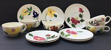 40's Blue Ridge Souhern Potteries  Hand Painted  Mixed Lot Cups Saucers