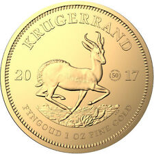 2017 1 oz 50th Anniversary Privy South African Gold Krugerrand Coin