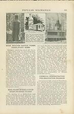 1921 Magazine Article Pine Island Lake New Hampshire Bottle Shaped House Camp