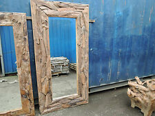 Teak Root Extra Large Rectangular Mirror From Sustainable Forests 200 X 100cm