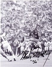 Mike Lantry signed 6.25x8 inch Michigan Wolverines B&W photo #2