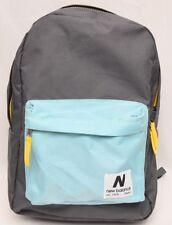 "New Balance Classic Backpack Book Bag NB-1230 16"" X 11""  Grey / Light Turquoise"