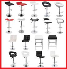 New PU PVC Leather Bar Stool Kitchen Chair Gas Lift Black White Red in 4X 2X 1X