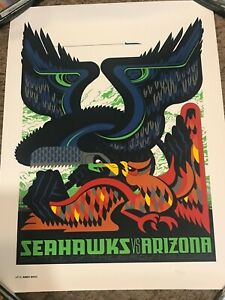 Seattle Seahawks Gameday Poster Arizona Cardinals Limited Edition 61 of 315