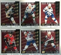 2019-20 Upper Deck Red Shooting Stars Right Wingers Complete Set 1-10 Pastrnak