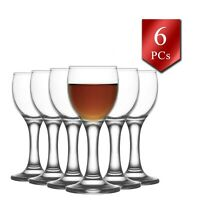 Liqueur Glasses Set of 6, Stemmed Liqour Wine Drinking Glassware Set, 1.7 oz