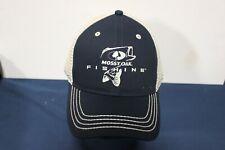 MOSSY OAK FISHING - BLACK AND BEIGE TRUCKER HAT - SNAPBACK