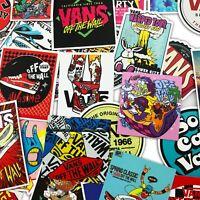 100 PCS VANS OFF THE WALL Logo Decal Sticker Skateboard Laptop Stickers Lot