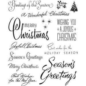 PRE-ORDER Tim Holtz Cling Mount Stamps Christmastime 3 CMS427 Stampers Anonymous