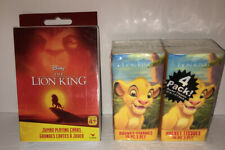 Disney Lion King JUMBO Playing Cards and Lion King Pocket Tissues NEW