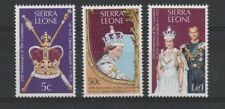 SIERRA LEONE 1978 25th ANNIVER CORONATION SET OF ALL 3 COMMEMORATIVE STAMPS MNH