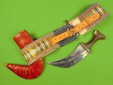 Old Vintage Antique Jambiya Fighting Knife Dagger w/ Scabbard and Belt