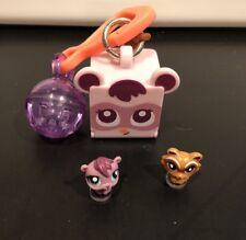 Littlest Pet Shop Teensies Backyard 2 Pets T105 T106 Bubble Keychain House