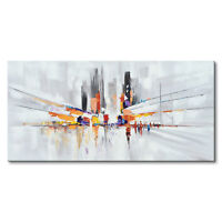 Hand Painted Abstract Oil Painting on Canvas Wall Art Modern Artwork Home Decor