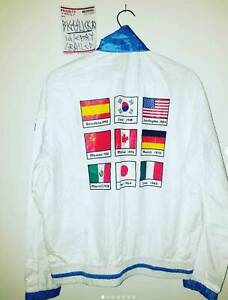 RARE VTG NIKE OLYMPICS Team Seoul Windbreaker Jacket Coat Korea L Vintage Flags