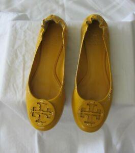 TORY BURCH Ballet Flats Yellow Size 6.5 - 7