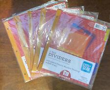 Folder Dividers 5 Tab Durable Plastic Resists Pengear 85in X 11in 20tabs 5pk