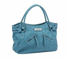 Rock Rebel GG Embossed Sugar Skulls Tote Goth Punk Cute Teal Handbag Bag Purse