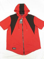 $44 NWT NEW Mens Rocawear Contrast Quilted Zip Hoodie T-Shirt Tee Red Sz XL N228