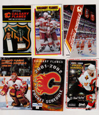 9 Calagary Flames NHL Hockey schedules 1987- 2009 Trevor Kidd  +09 Quad City