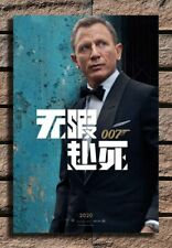ZA194 No Time to Die Movie Chinese Daniel Craig Art Custom Poster 14x21 32x48