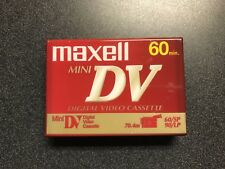 NEW Maxell Mini DV 60min Blank Video Camcorder Tape - DVM60SE - SHIPS PROMPTLY!