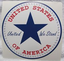 """USA United We Stand decal 6"""" all-star style sticker american flag converse state"""