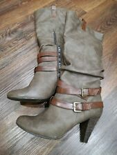 Womens size 5 boots brown leather boots