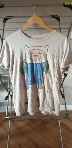 Adventure Time Finn Distressed Unisex M T-Shirt White
