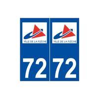 72 La Flèche logo autocollant plaque stickers ville