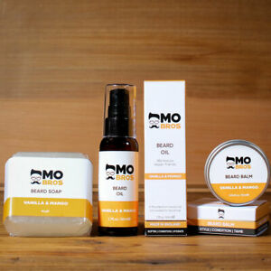 Beard Grooming Kit | Beard Oil 50ml, Beard Balm 25ml & Beard Soap 80g | 8 Scents