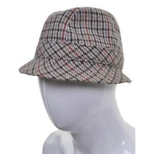 VINTAGE Tweed Trlby Hat S 56 7 Houndstooth Check Wool Fedora