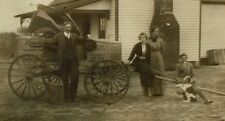 SUPER  Photo family ca 1910  Oklahoma  Rawleigh Salesman Occupation Horse Wagon