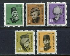 30970) TURKEY 1967 MNH** Turkish Famous People 5v