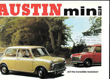 AUSTIN MINI  MKII SALOON AND SUPER DE-LUXE SALOON SALES BROCHURE JANUARY 1969