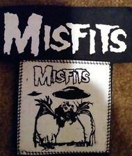 punk small canvas patch  lot set of 2 MISFITS MISFITS DANZIG SAMHAIN