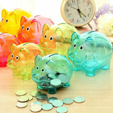 Cute Plastic Piggy Bank Coin Money Cash Collectible Saving Box Toy for Children