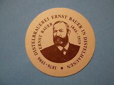 Beer Coaster ~ Leipziger Distelbrauerei Ernst Bauer ~ Leipzig, GERMANY 1876-1986