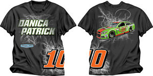 Danica Patrick 2014 Checkered Flag Sports #10 Go Daddy Electric Tee FREE SHIP