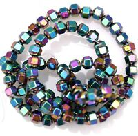 A Strand 100pcs Colorful Hematite Gemstone Spacer Beads Faceted Bead 4mm