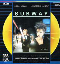 Laser Disc Video: Luc Besson: subway. cbs fox
