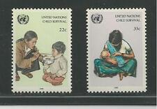 United Nations, New York # 466-467 Mnh Unicef, Child Survival Campaign